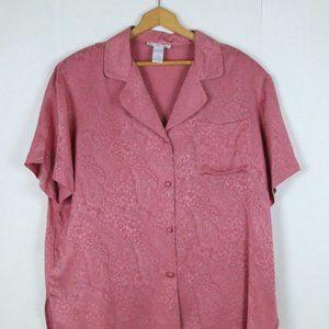 Vintage 80's Pink Paisley Silk Shirt